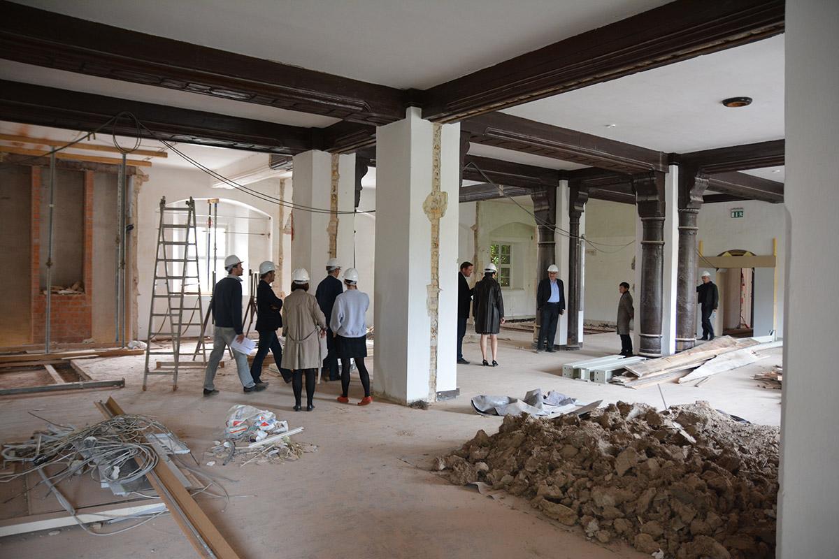 Renovierungsarbeiten Ausstellungsraum EG