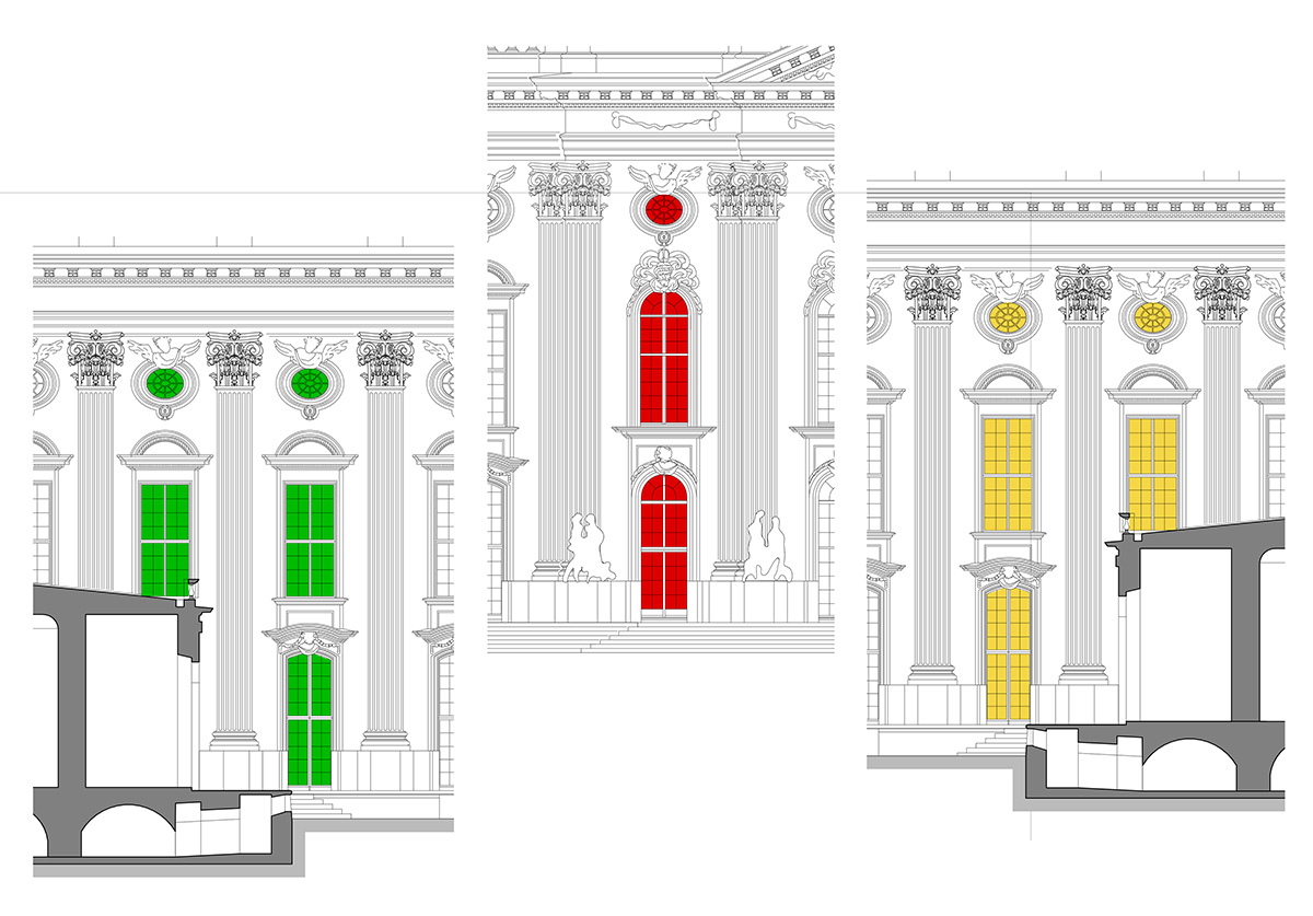 Visualisierung Lichtinszenierung Treppenhäuser