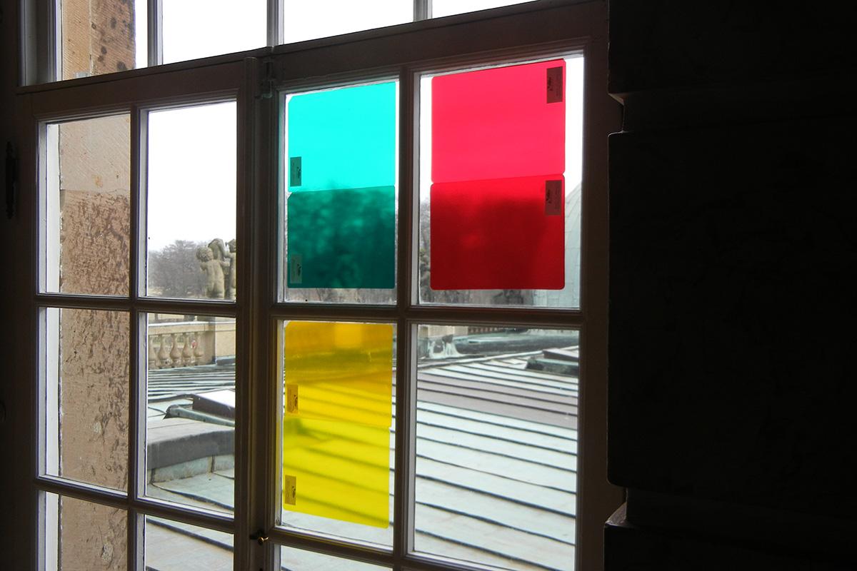 Licht- und Farbproben vor Ort