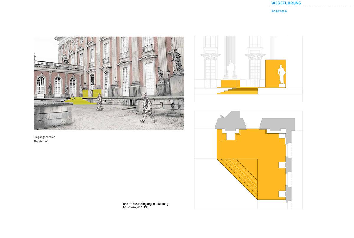 Entwurf Gelber Eingangsbereich