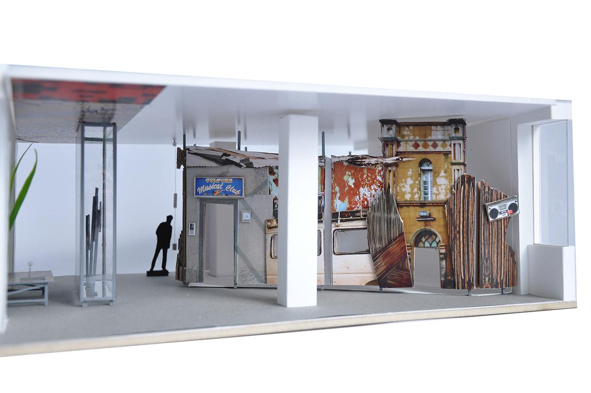 Modellbau: Fassadengestaltung Musikclub