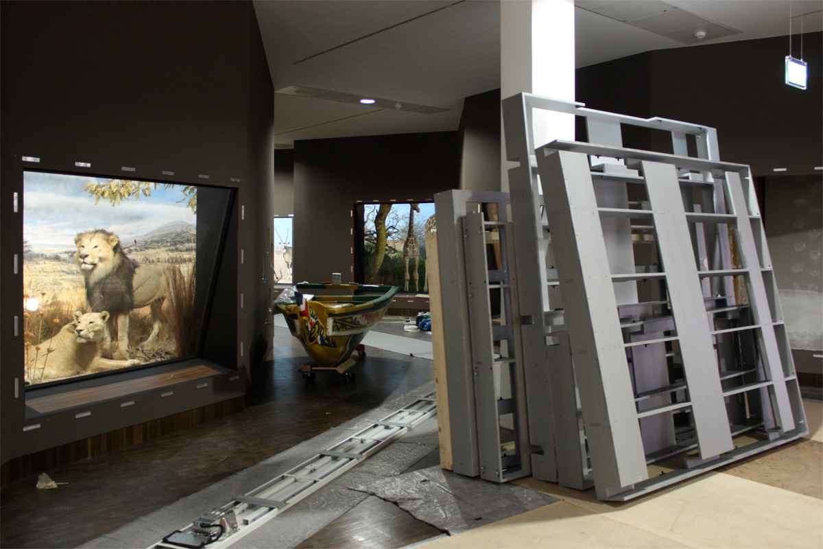 Ausstellungsaufbau Diorama