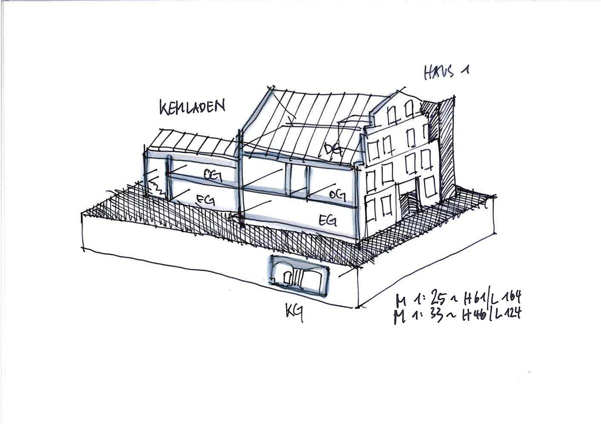 Skizze Hausmodell