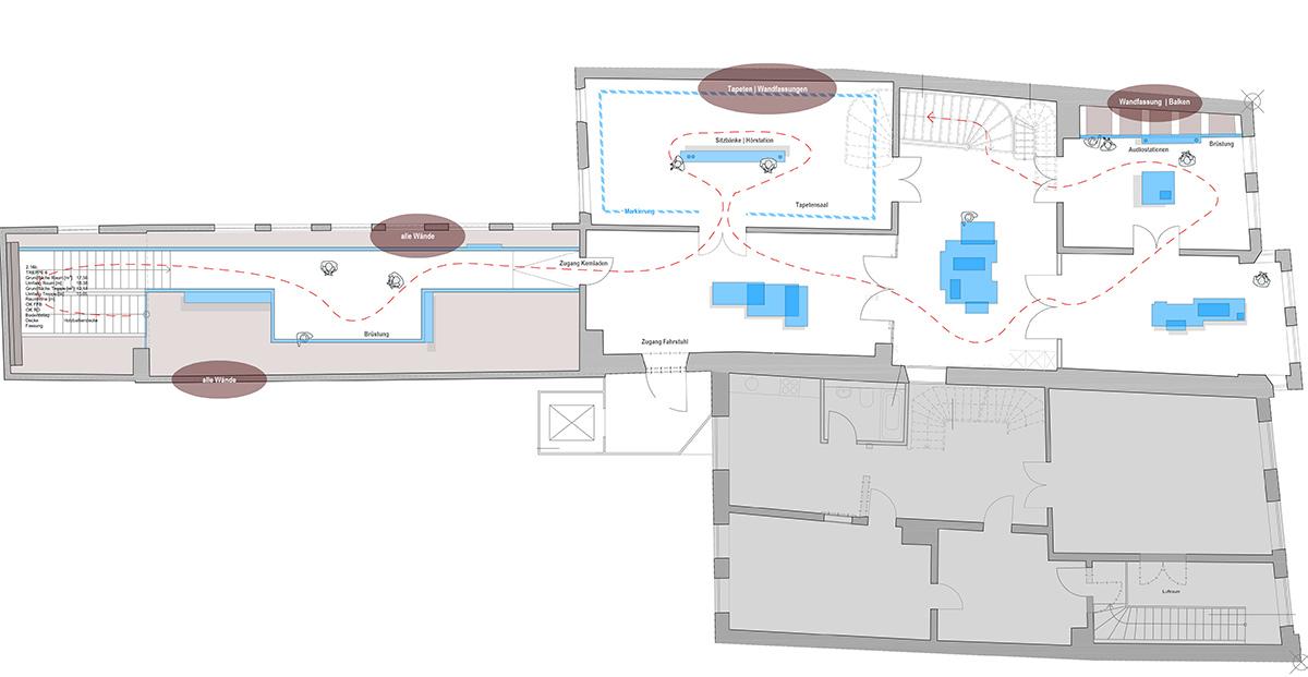 Besucherführung Grundriss