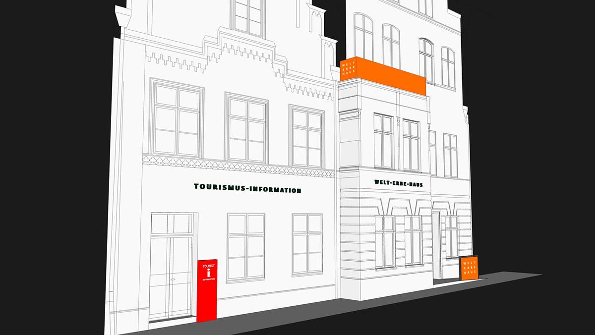 3-D-Animation Hausfassade