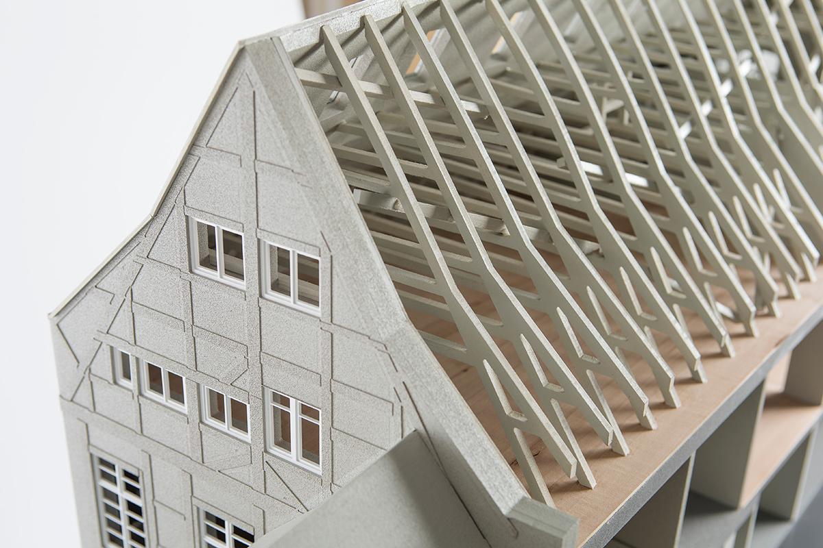 Dachaufbau Modell Gebäude
