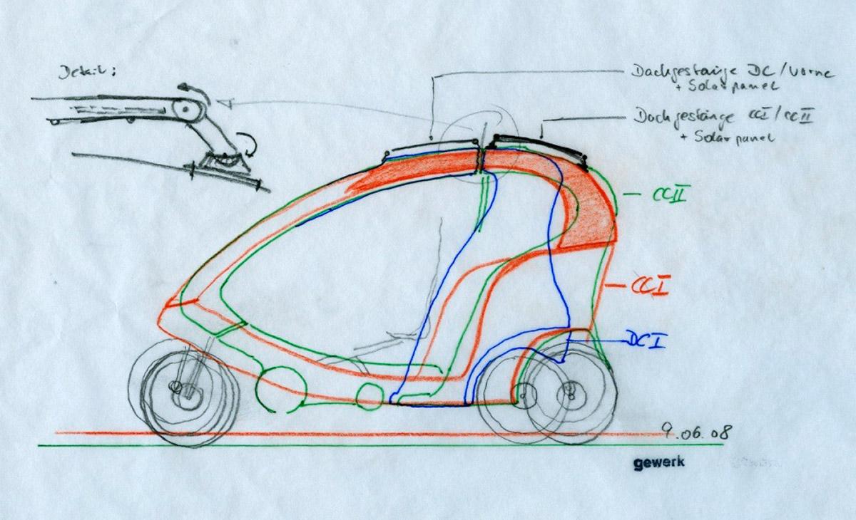 Entwicklungsskizze beider Fahrzeuge