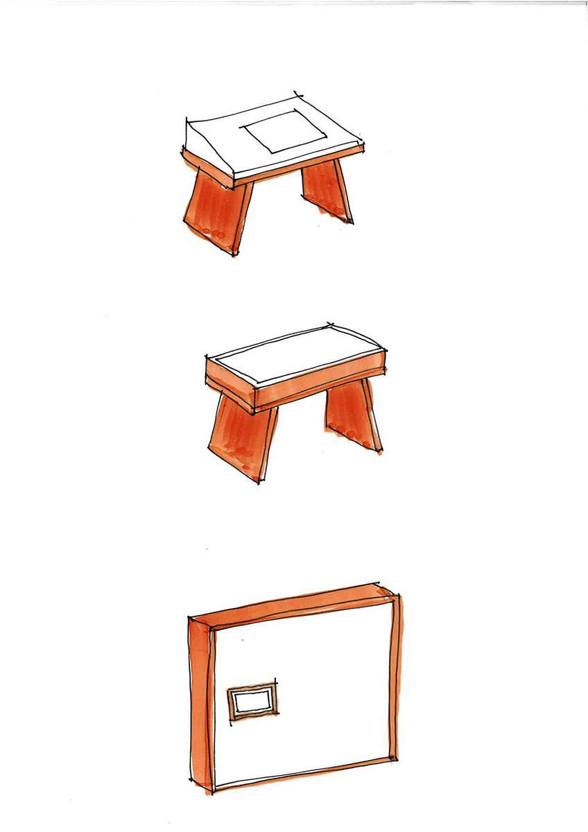 Skizze Mobiliar
