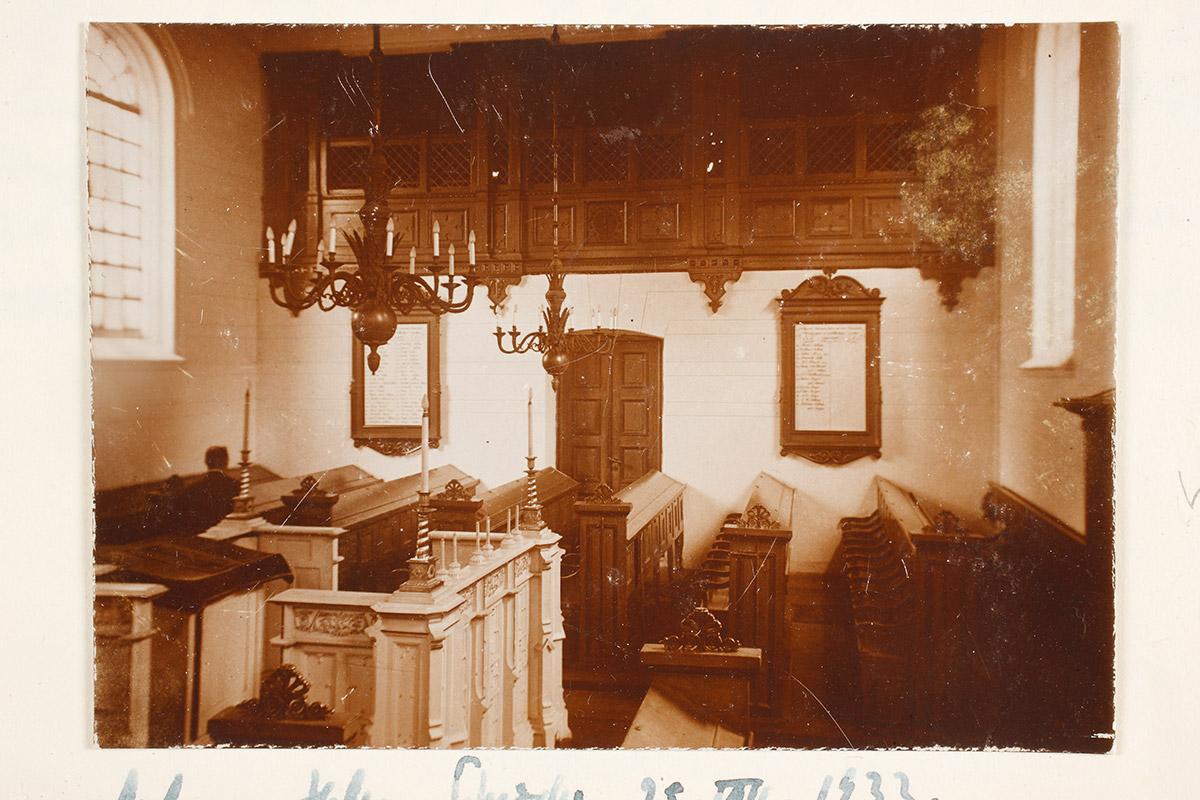 Synagoge Zustand 1930 – Betsaal