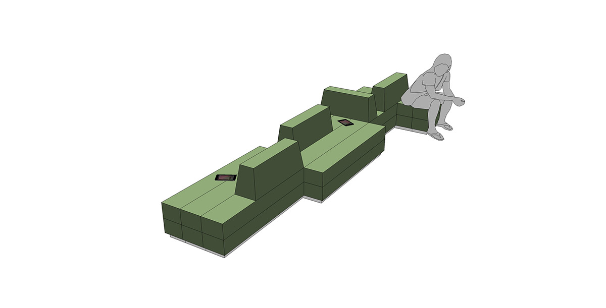 Entwurf Sitzmöbel/Ausstellungsmöbel