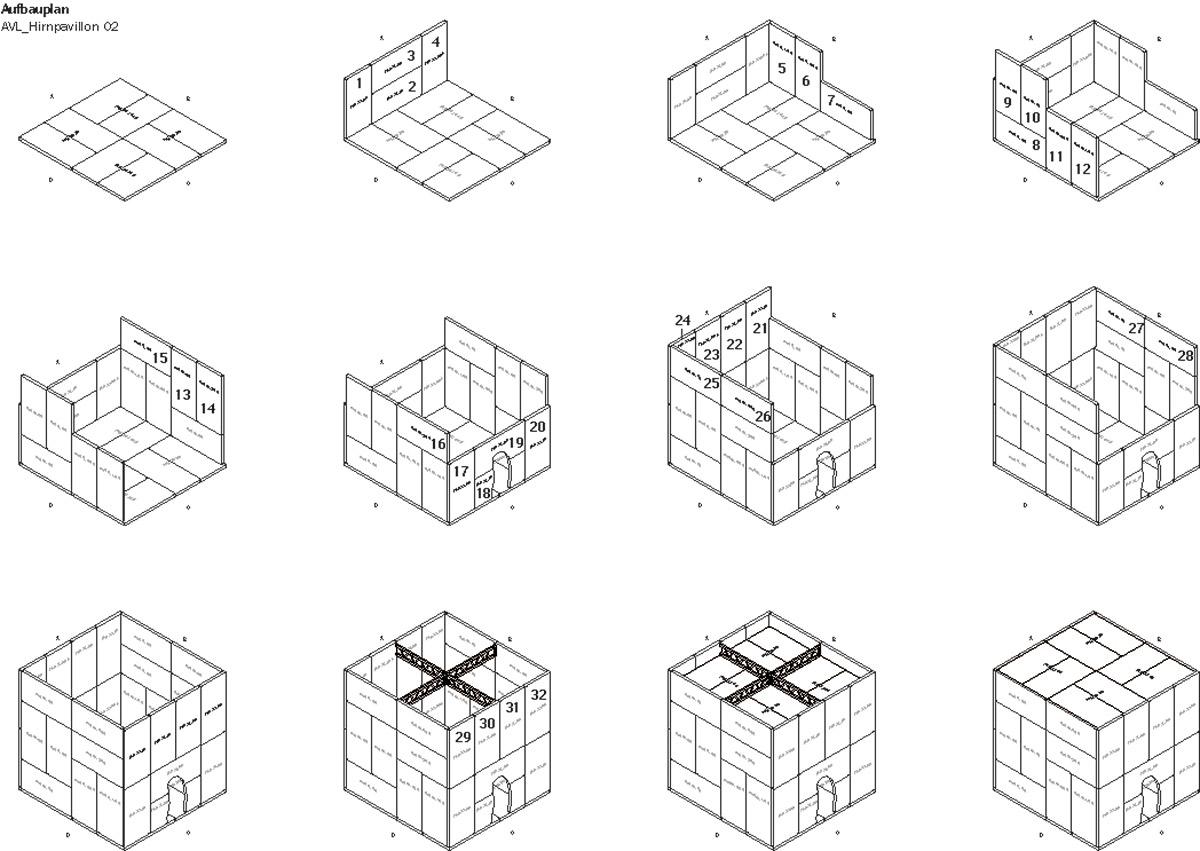 Modulare Bauweise Pavillons