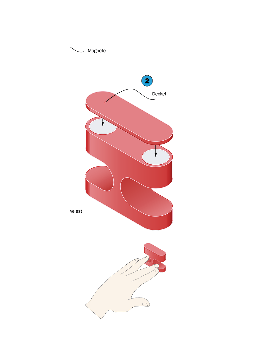 Fingerring der Arbeit Nano Scape von Sommerer & Mignonneau