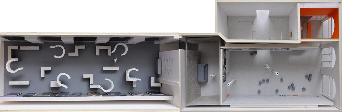 Modellbau der Ausstellungsräume
