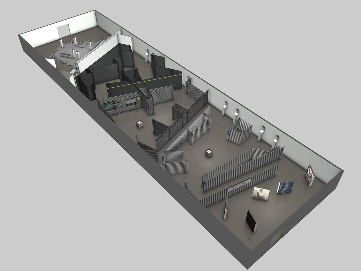 3-D-Visualisierung Grundriss der Tour